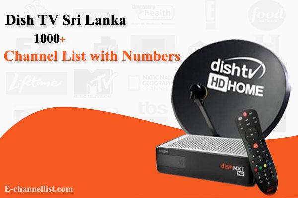 Dish TV Sri Lanka Channel Number List