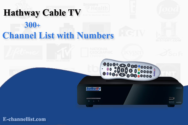 Hathway Cable TV Channel List with Number