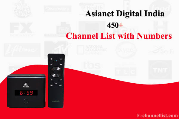 Asianet Digital TV Channel Number List