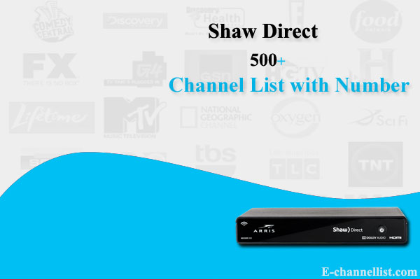 Shaw Direct Channel List with Number Classic Advanced