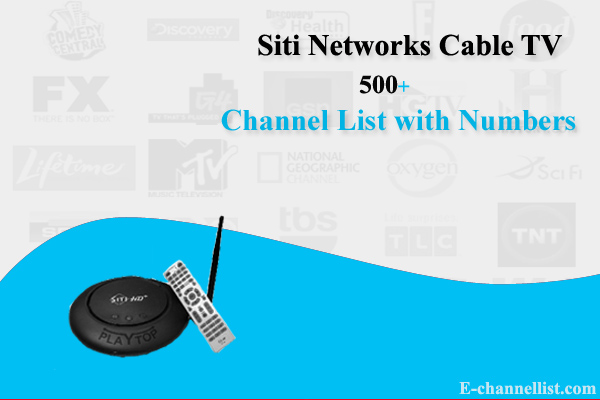 Siti Digital Network Cable TV Channel List with Number