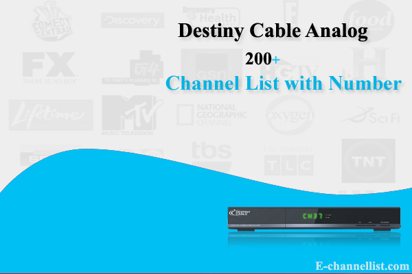 Destiny Cable Analog Channels List with Number