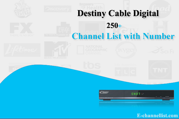 Destiny Cable Digital Channels List with Number