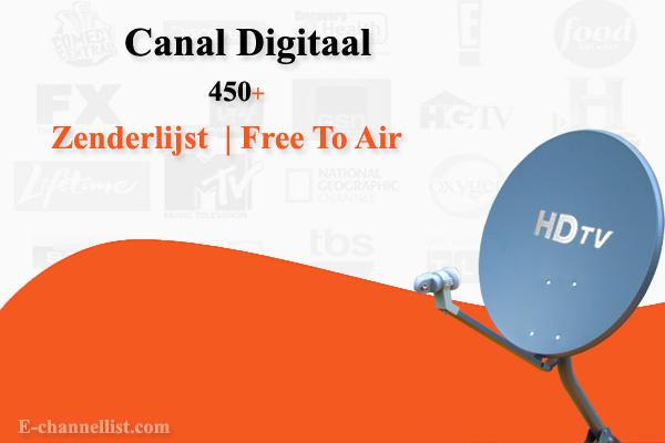 Canal Digitaal Zenderlijst, Free To Air, Schotel