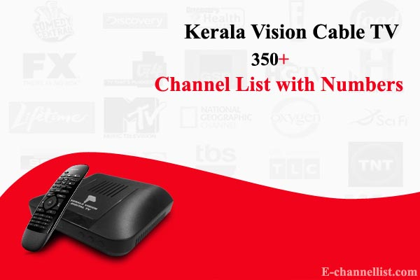 Kerala Vision Digital TV Channels List with Numbers