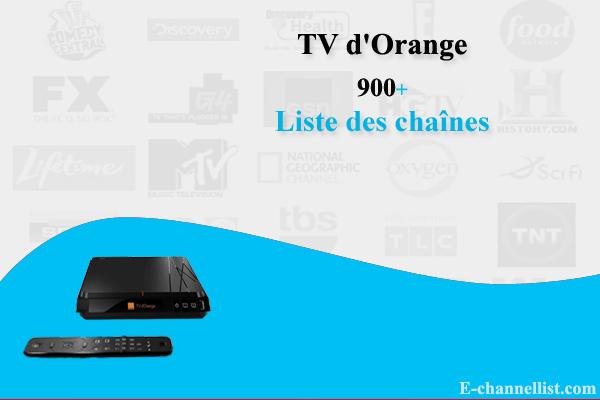 Liste des chaînes de la TV d'Orange