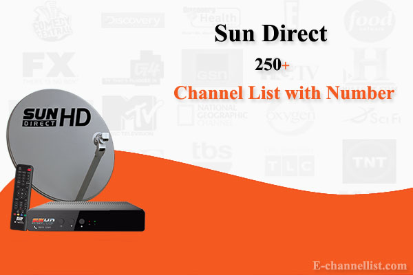 Sun Direct Channel List with Number