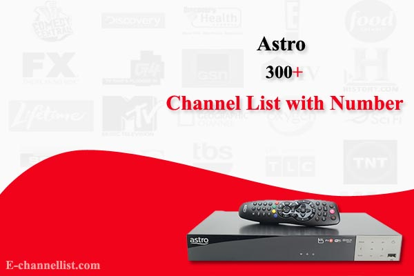 Astro Channel List with Number