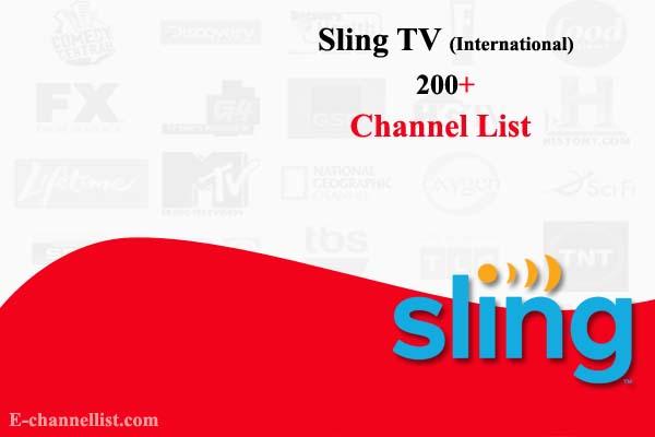 Sling TV Channel List International